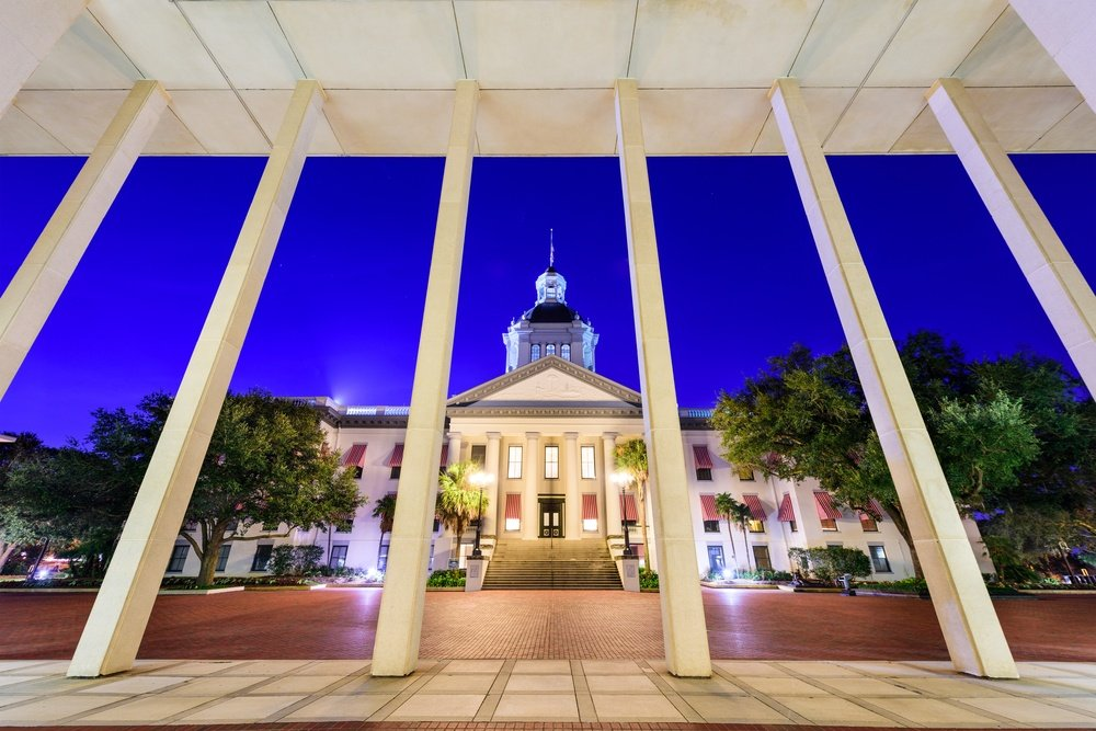 Tallahassee, Florida, USA at the historic Florida State Capitol Building.